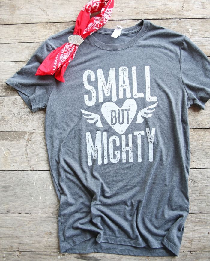 small but mighty vintage dyed unisex tee
