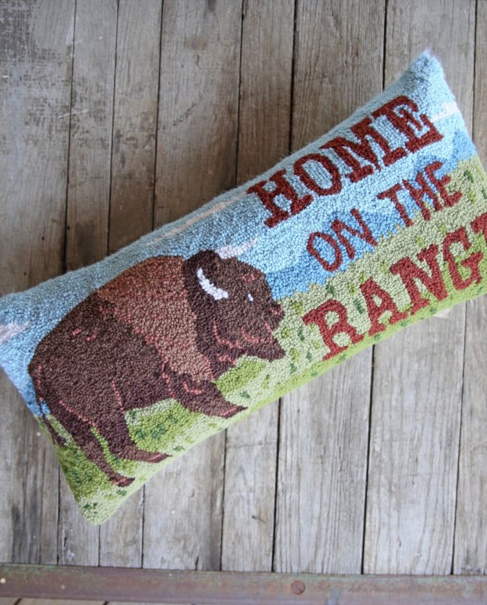 home on the range hook pillow