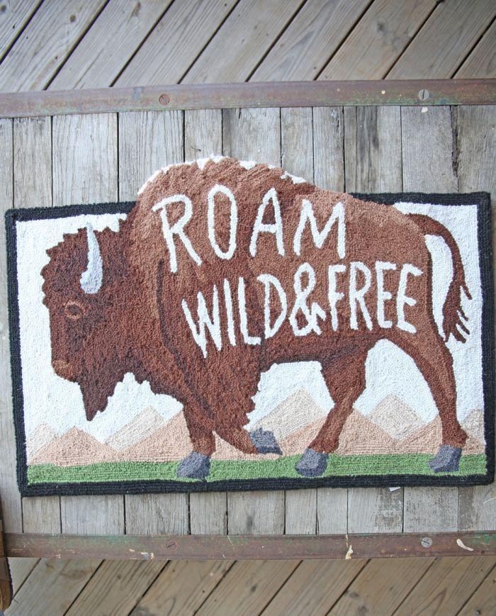 roam wild & free hook rug