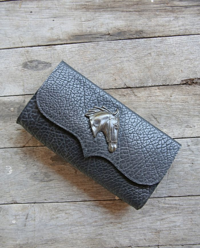 envelope clutch with horse - by Mcfadin