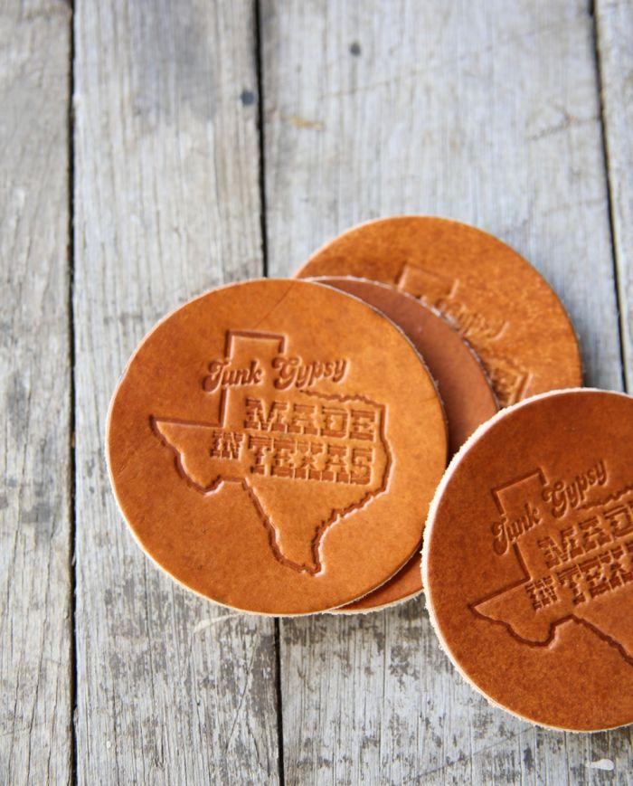 made in texas coaster set
