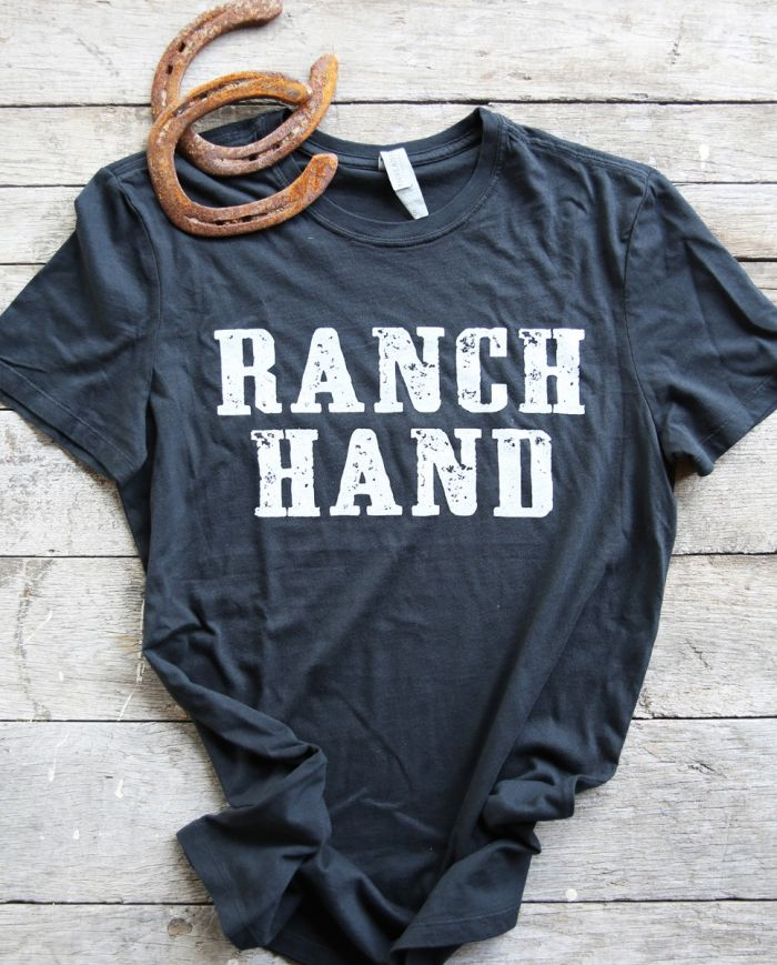 ranch hand black unisex tee