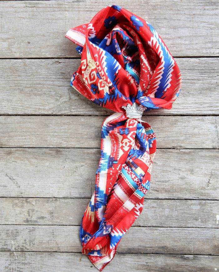 aztec red/blue wild rag