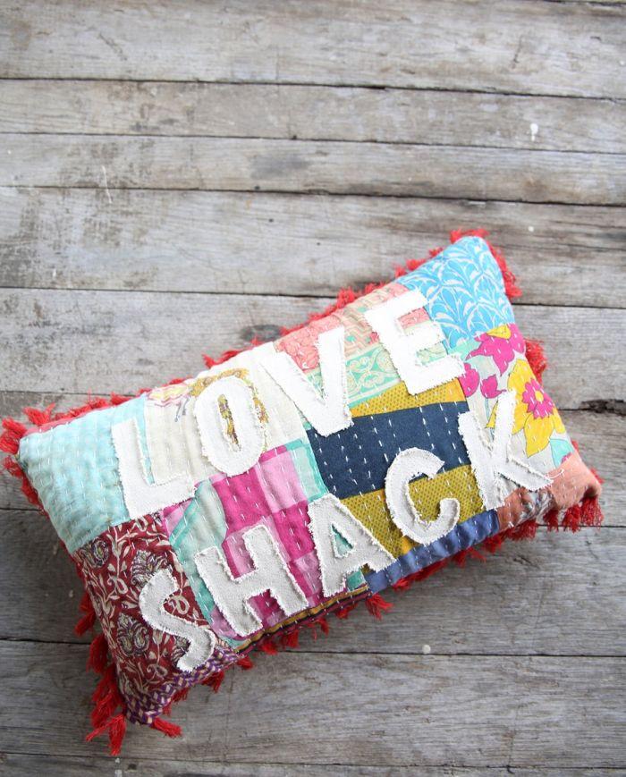 love shack kantha pillow