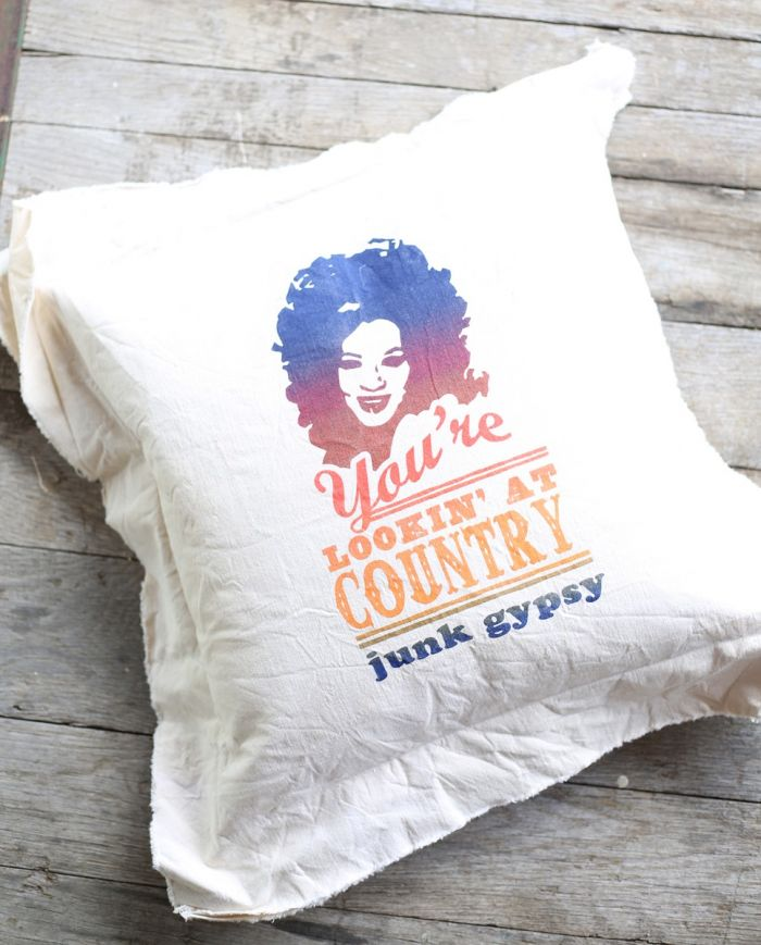 lookin' at country pillow