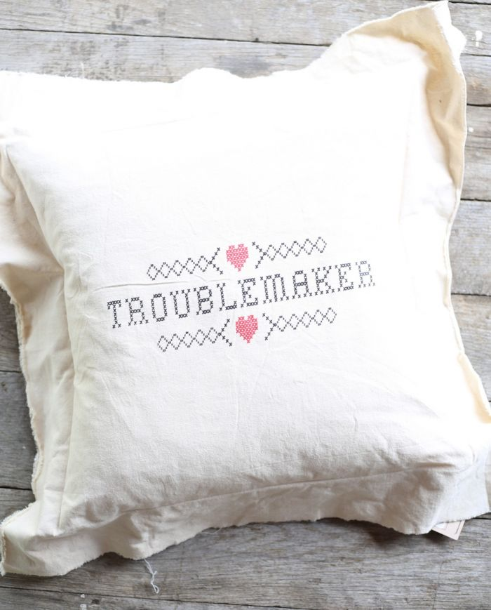troublemaker pillow