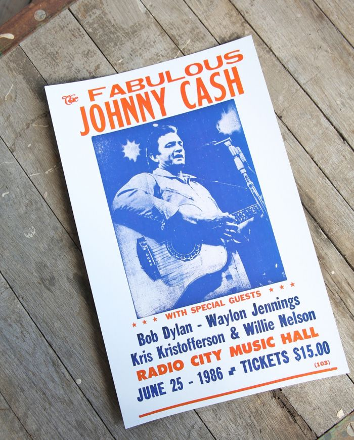 fabulous johnny cash print