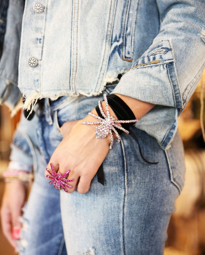 crystal spider choker/bracelet