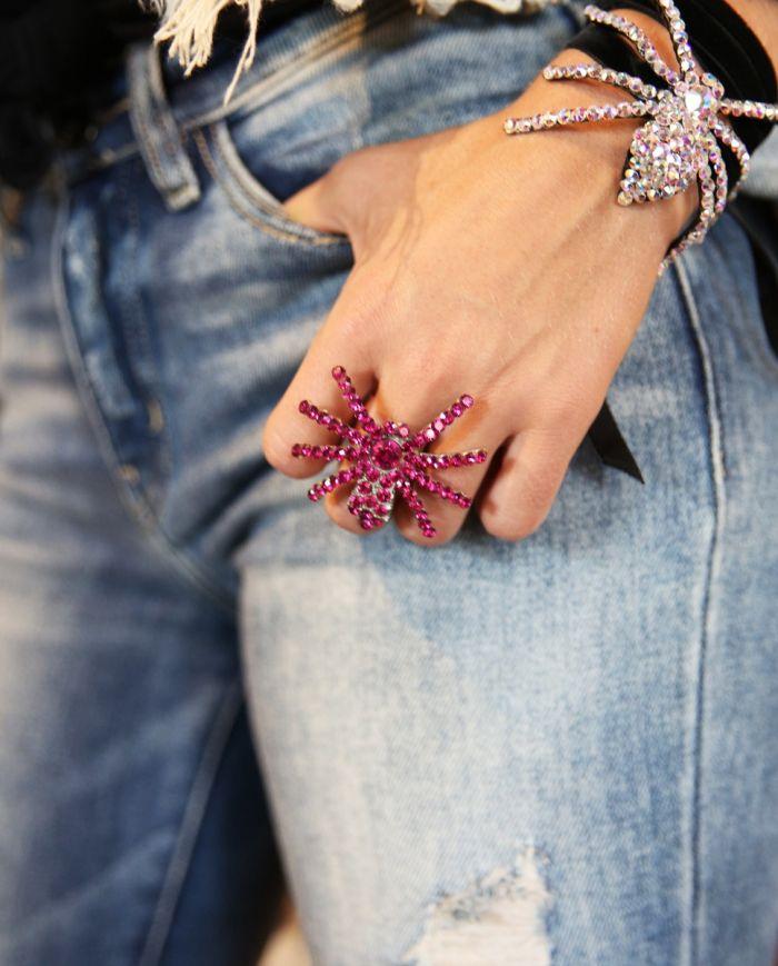 crystal spider ring
