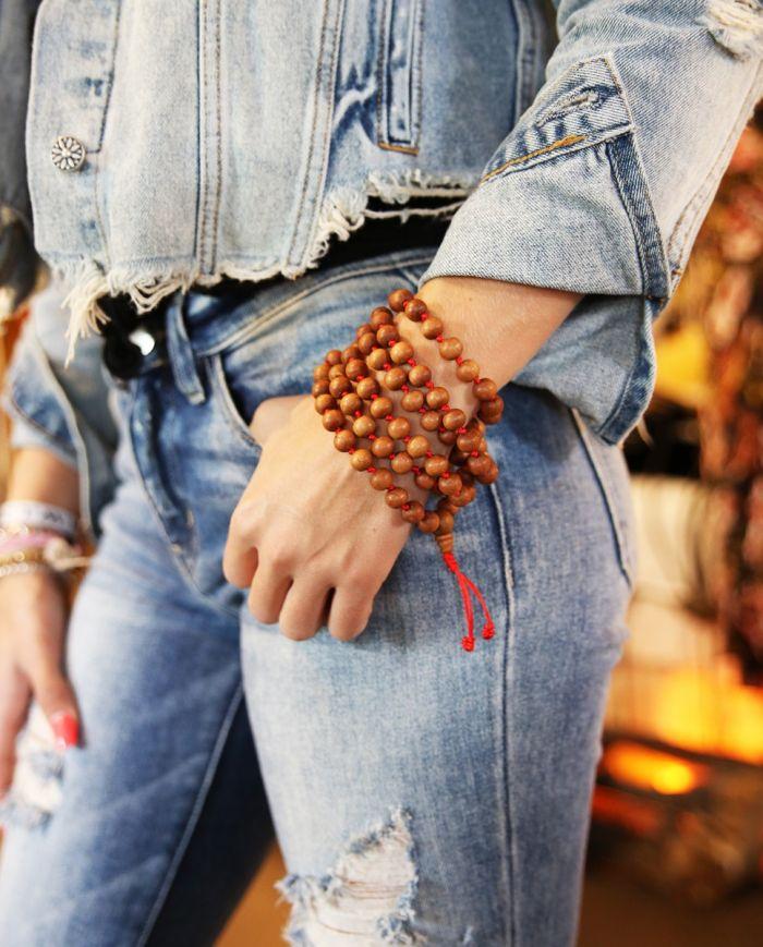 10mm mala bead necklace