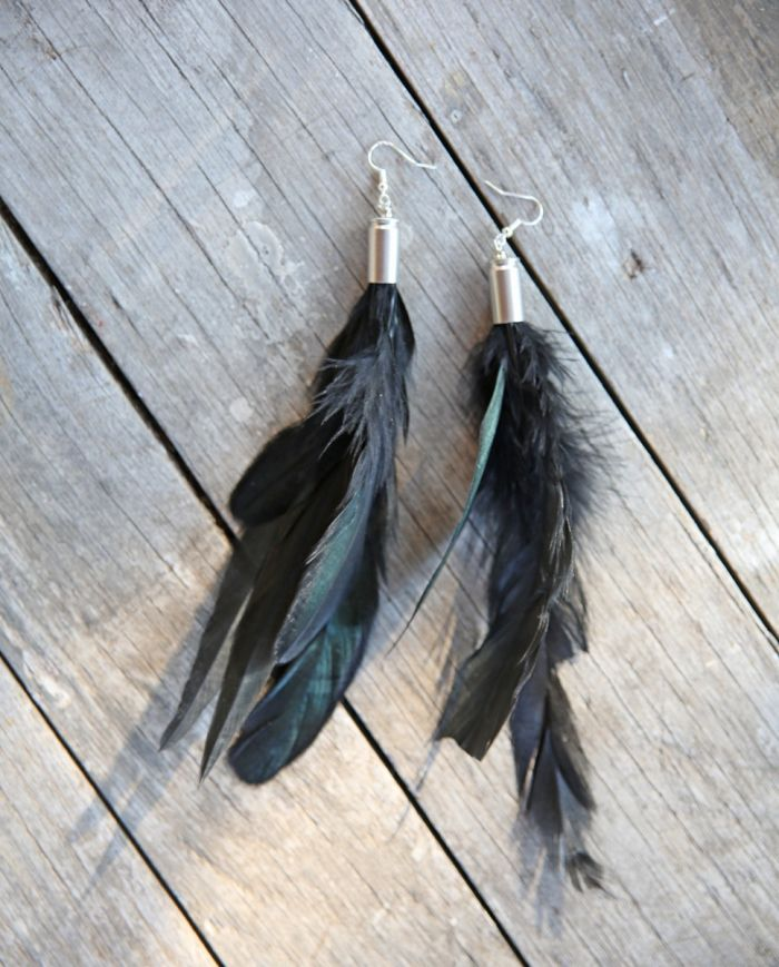 rhiannon feather earrings