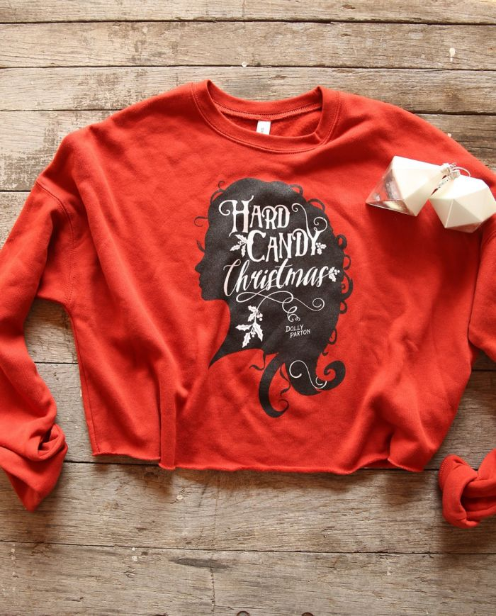 hard candy christmas cropped fleece