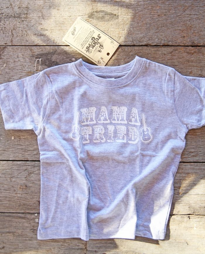 mama tried kids tee-grey