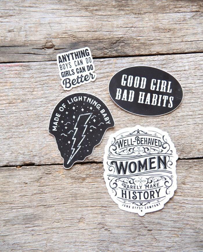 good girl bad habits sticker
