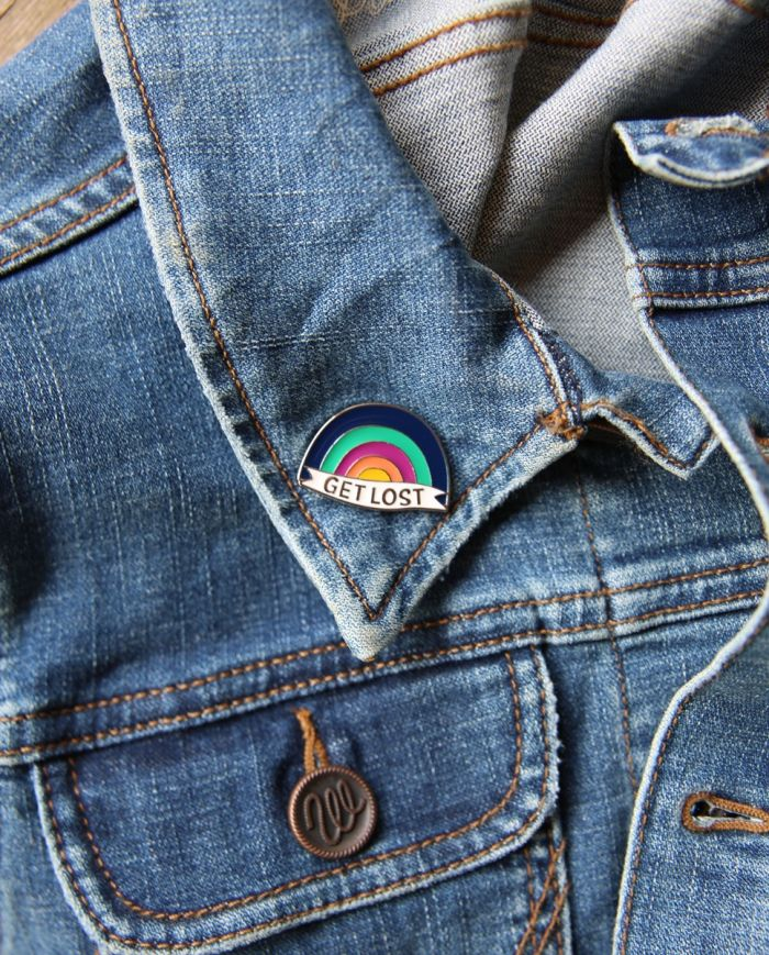 Get Lost Rainbow Enamel Pin