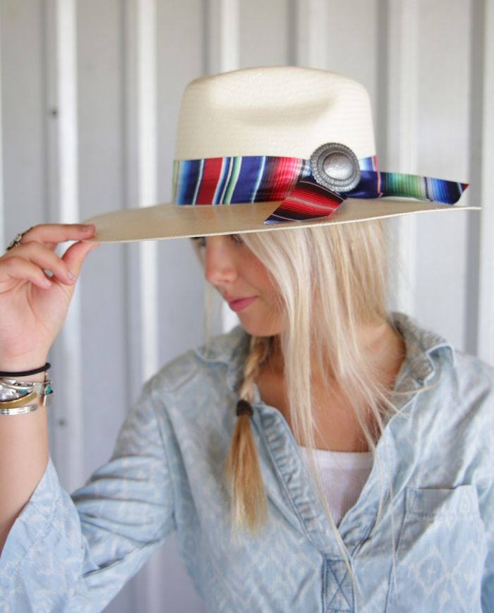 straw serape hat