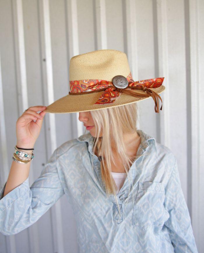 straw paisley hat