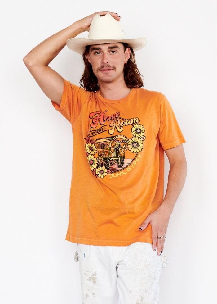 Junk Gypsy for Midnight Rider -- Home is Where I Roam Unisex Tee