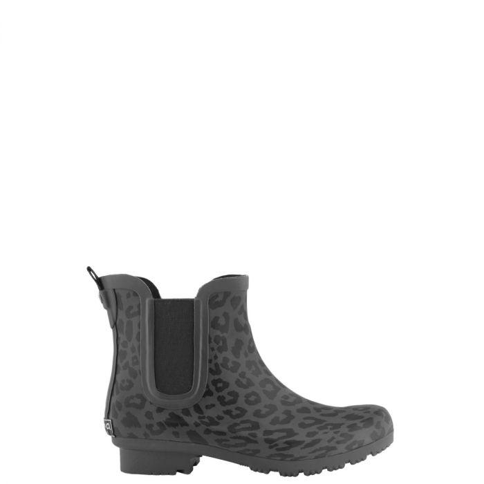 Chelsea Matte Leopard Rain Boots
