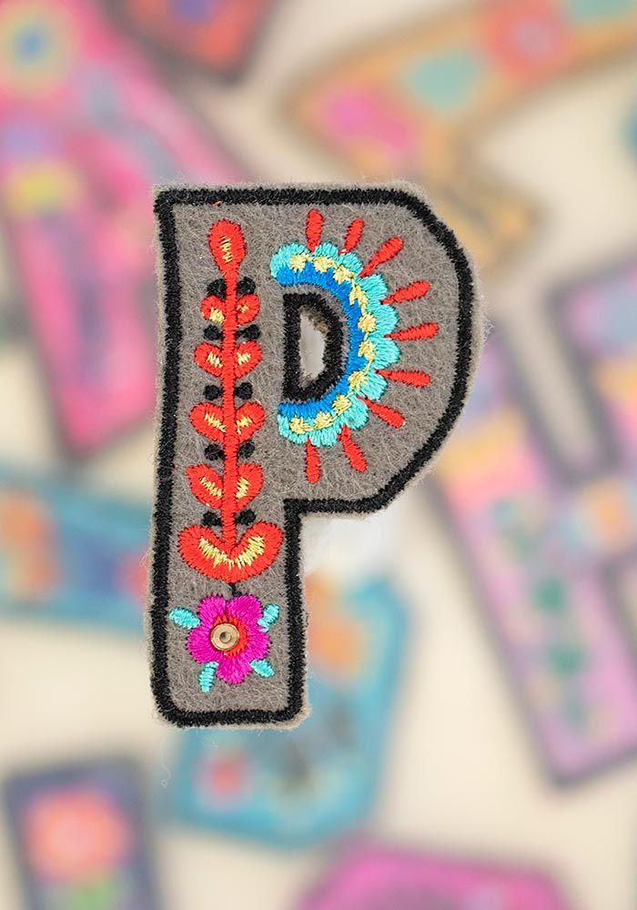 "letter patch ""p"""