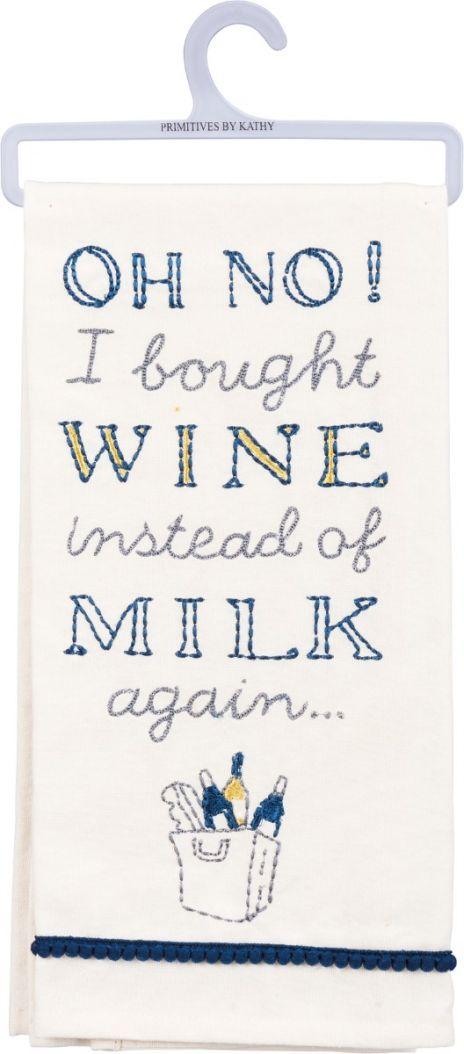Dish Towel - Wine Instead Of Milk Again