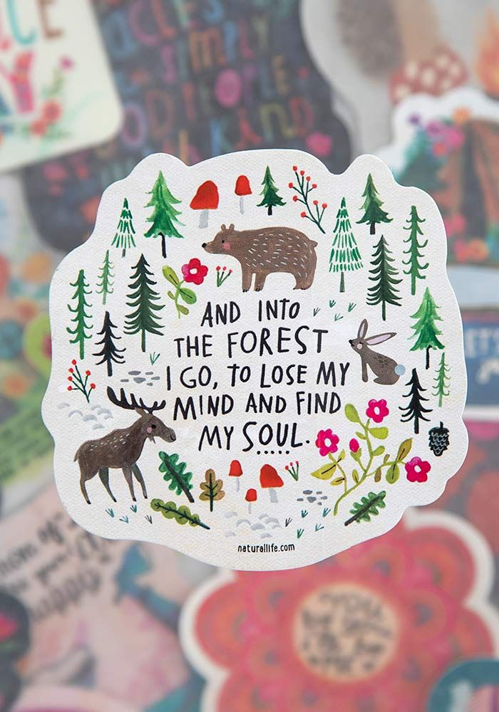 into the forest vinyl sticker