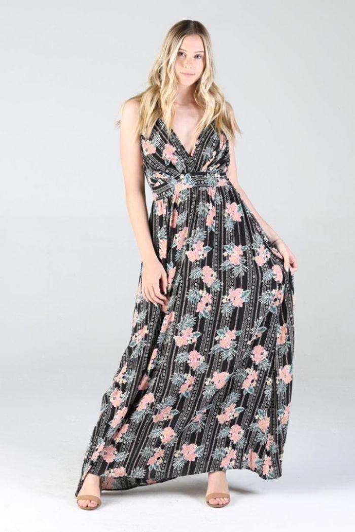 boho blooms maxi dress