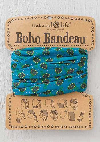 boho bandeau - turquoise daisies