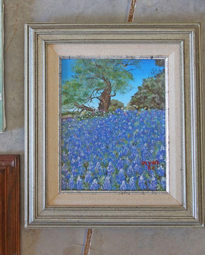 art class bluebonnet paintings