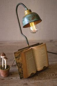 table lamp book holder