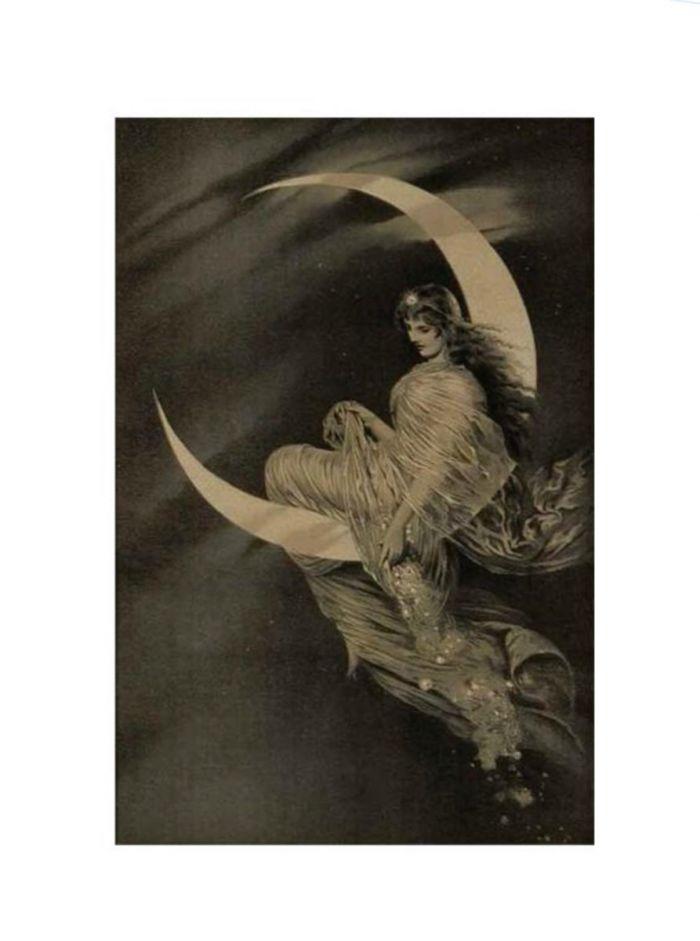 moon fairy print