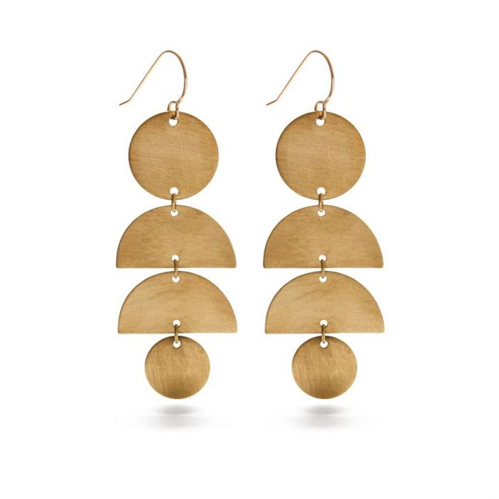 Half Moon Stack Earrings