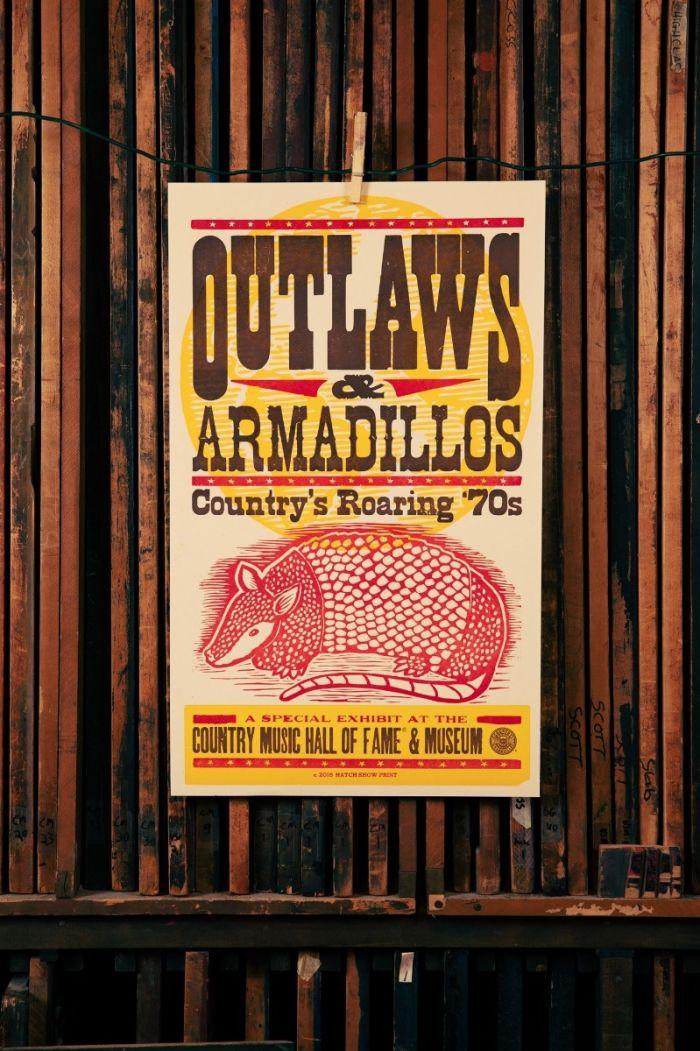 Hatch Showprint Outlaws & Armadillos Exhibit Poster