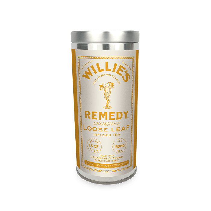 Willie's Remedy Chamomile tea tin