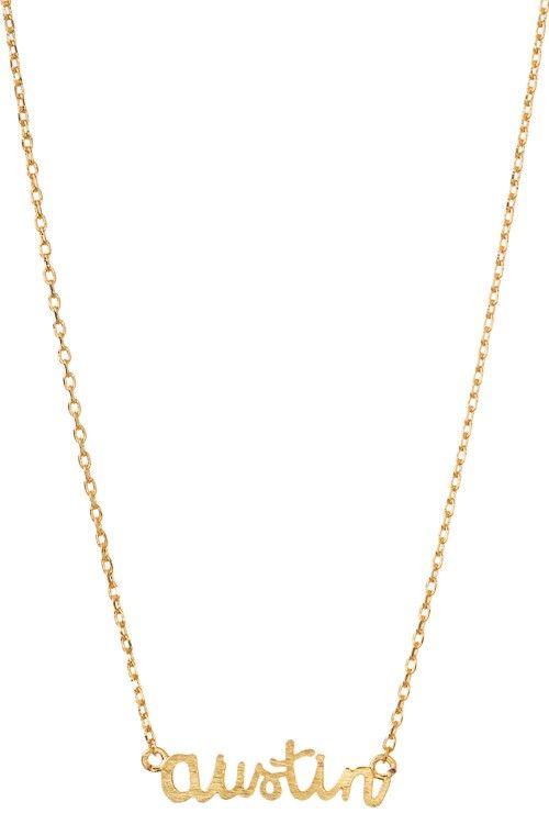 austin script necklace