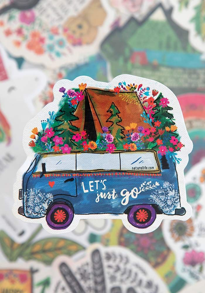 let's just go vinyl sticker