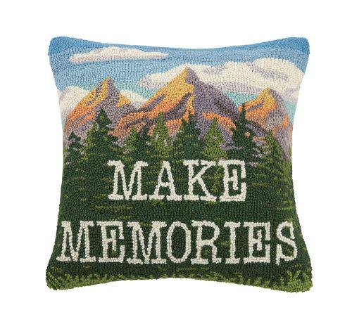 make memories hooked pillow