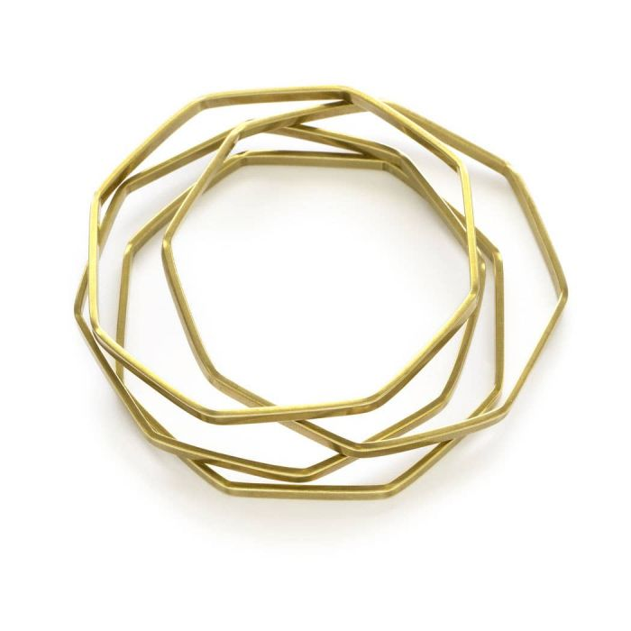Octagon Bangles - Set of 4