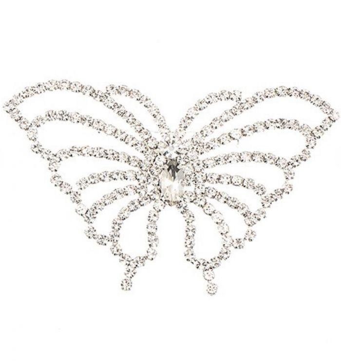 rhinestone pave butterfly brooch