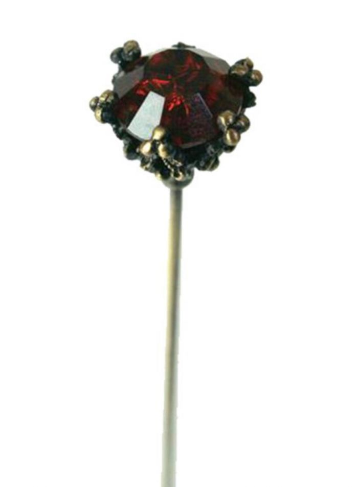 round ruby hatpin