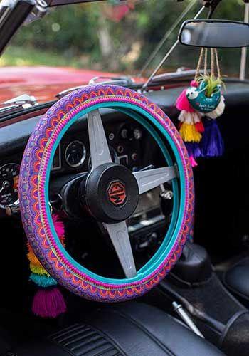 Steering Wheel Cover - Rainbow Border