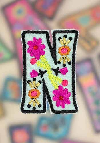 """letter patch """"n"""""""