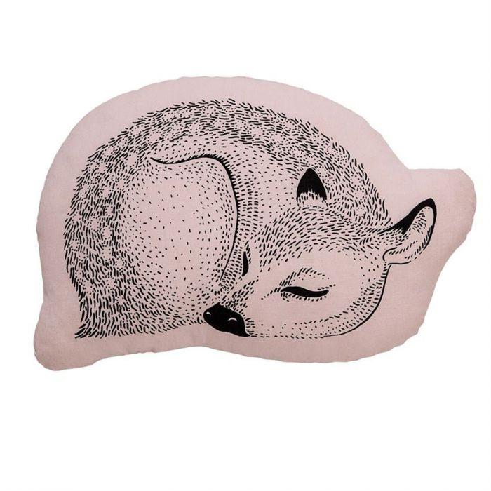 sleeping deer pillow