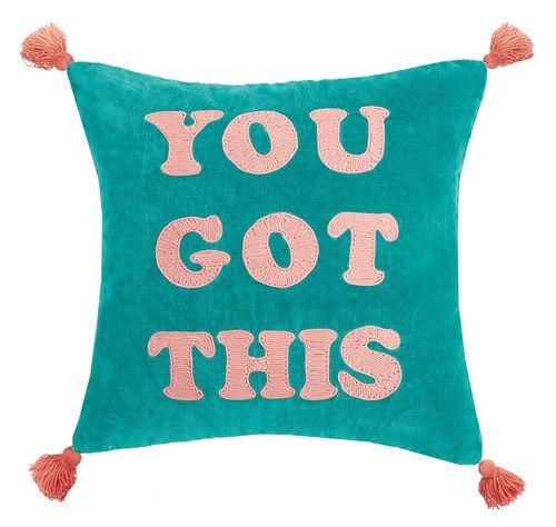 you got this tassel pillow
