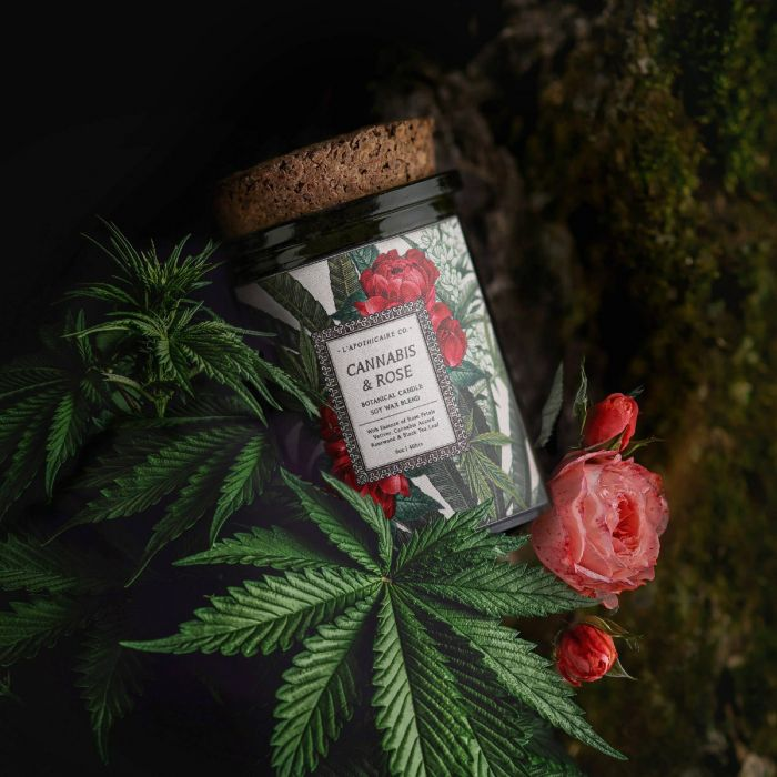 BOTANICA | Cannabis + Rose | Candle