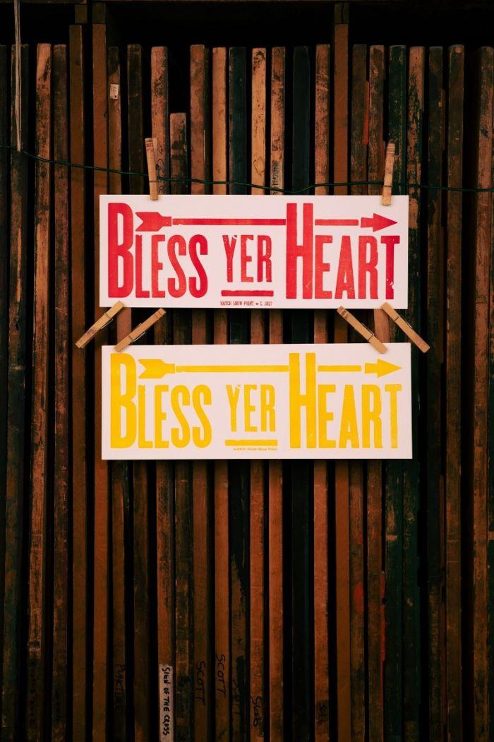 hatch showprint - bless yer heart poster