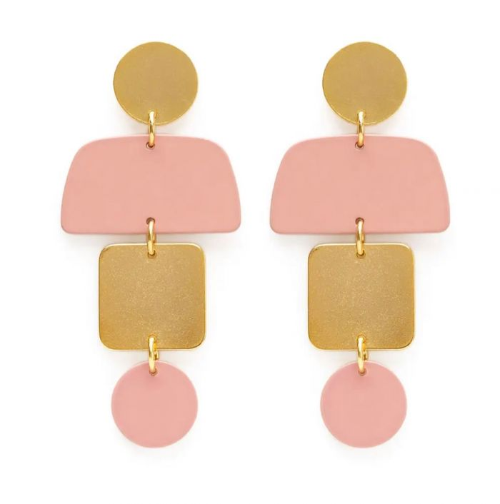 geometric stack earrings