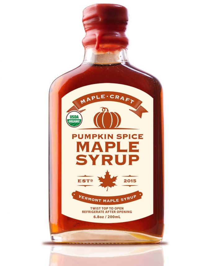 Gourmet Organic Pumpkin Spice Maple Craft Syrup
