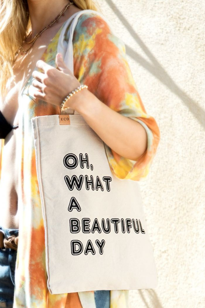 oh, what a beautiful day tote