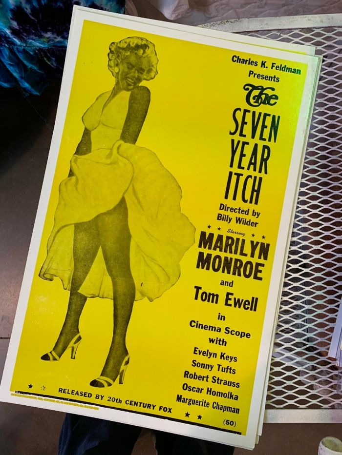 marilyn monroe - seven year itch - poster & postcard